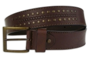 Riveted Brown Men's Belt 4cm