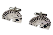 Silver Playing Card Cufflinks