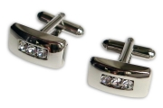 Silver Rectangle Cufflinks