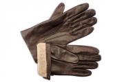Warm Wool Brown Men's Gloves