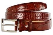 Crocodile pattern Cognac Men's Belt 3.5cm