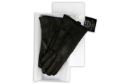 Luxury Lapin Black Ladies Gloves