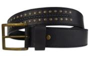 Riveted Black Men's Belt 4cm