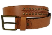 Riveted Cognac Men's Belt 4cm