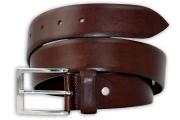 Smooth Brown Men's Belt 4cm