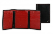 Tri-fold Red Men's Wallet