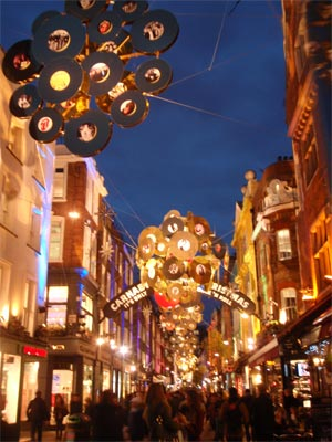 Carnaby Steet christmas decorations