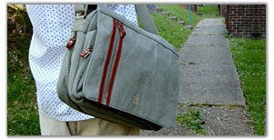 men's and ladies leather or canvas messenger bag